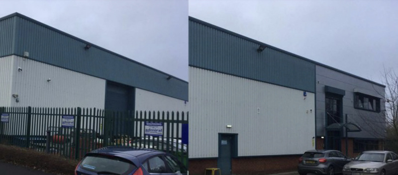 Warehouse gets a facelift after years worth of build up of dirt and algae