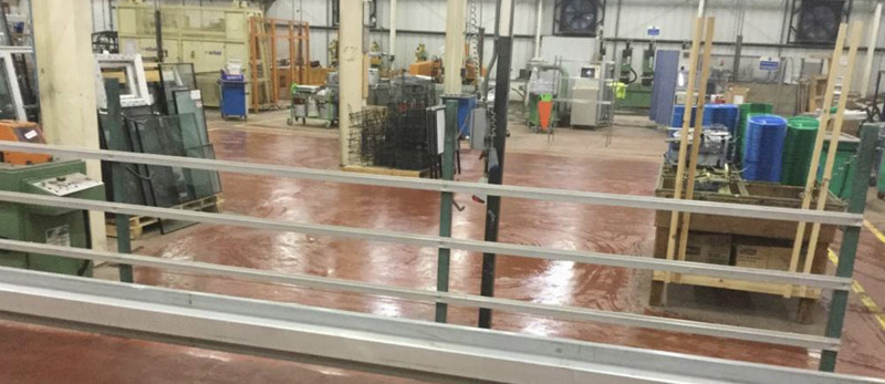 Sewerage flood clean-up at factory